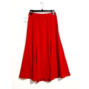New Fame and Partners red maxi skirt, size 4